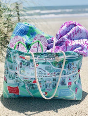 Pawleys Map Rope Tote