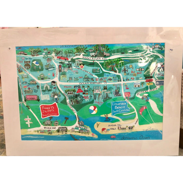 Pawleys Island Map Print