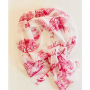 Sullivan's Island Toile Scarf in Blue or Pink