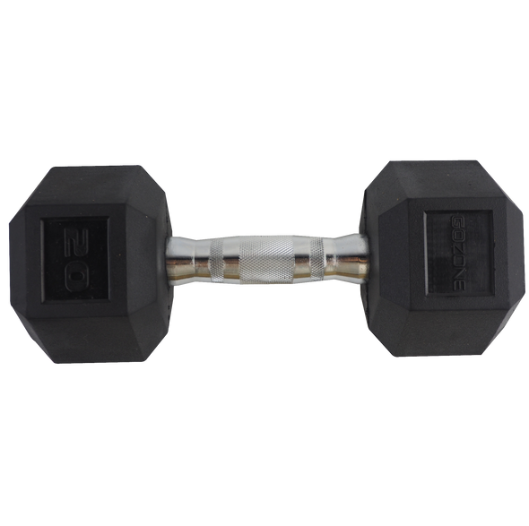 20lb Coated Hex Dumbbell