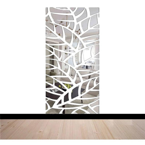 Stickers Miroir Feuillage Jungle
