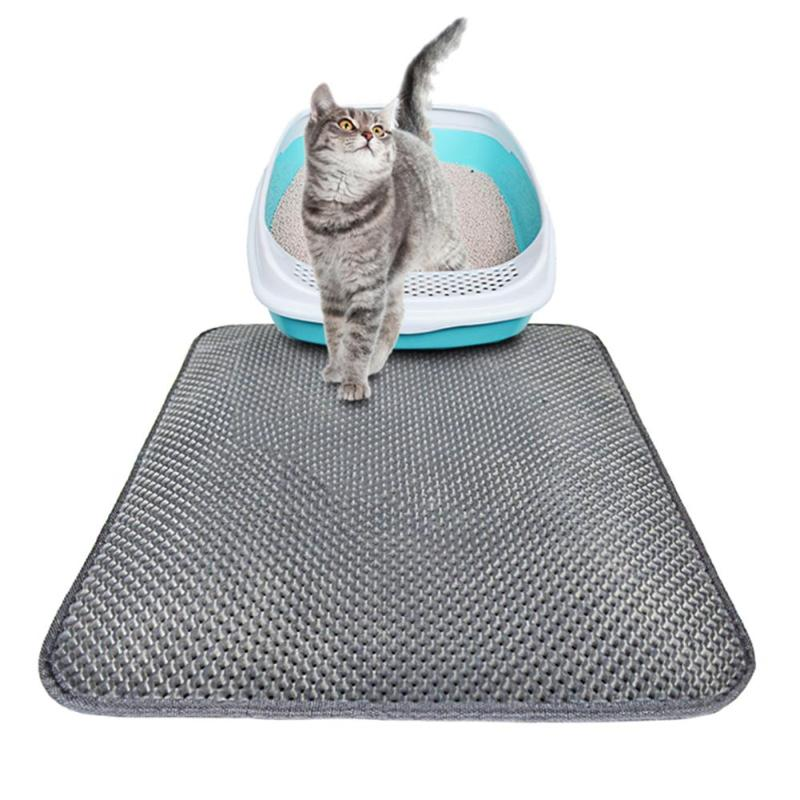 Cat Litter Mat EVA Double-Layer Pet Cat Litter Trapper Mats with Waterproof Bottom Non-slip Pet Litter Cat Mat Pet Supplies
