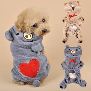 Winter Dog Clothes for Small Dogs Soft Coral Fleece Pet Clothing for Dog Clothes Winter  Clothes Cartoon Pet Outfit