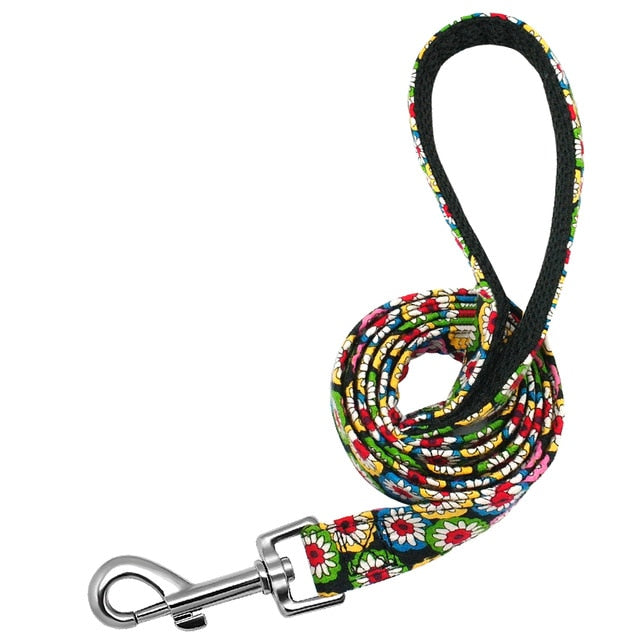 Pet Dog Leash Nylon Print Dog Leashes Rope Small Medium Lead for Dogs Cat Puppy 120cm Soft Breathable Chihuahua Walking Leads