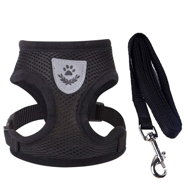 Mesh Pet Vest Harness and Leash Set Small Dog Puppy Cat Breathable Vest Harness Collar For Chihuahua Pug Bulldog Cat Arnes Perro