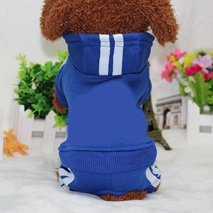PUOUPUOU Winter Warm Pet Dog Clothes Hoodies Sweatshirt for Small Medium Dogs French Bulldog Sweet Puppy Dog Clothing XS-XXL