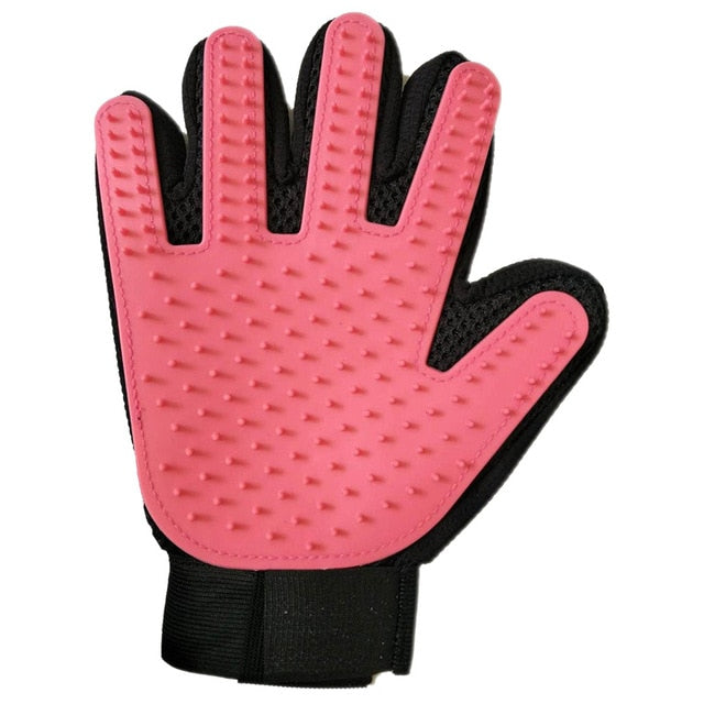Nicrew cat grooming glove for cats wool glove Pet Hair Deshedding Brush Comb Glove For Pet Dog Cleaning Massage Glove For Animal
