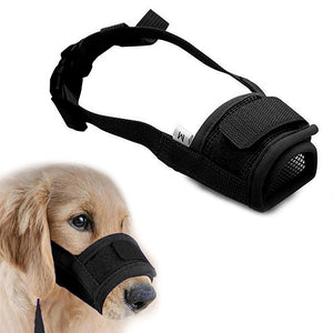 Anti Barking Dog Muzzle for Small Large Dogs Adjustable Pet Mouth Muzzles for Dogs Nylon Straps Dog Accessories 10cy30S1