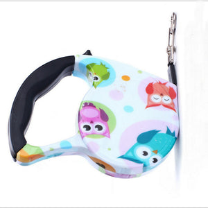 5M Colorful Retractable Dog Leash Extending Puppy Walking Leads Pet Dog Running Leashes Hands Freely Great For Walking Dog