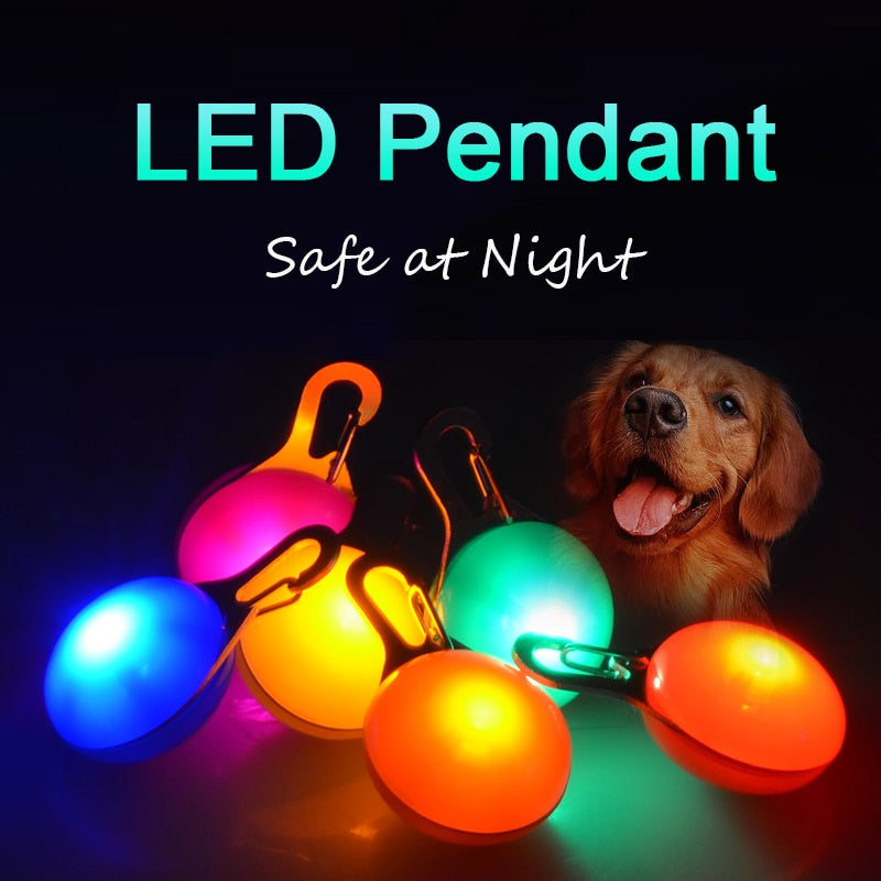 LED Dog Tag at Night Three Flash Modes Lights Glowing ID Tag For Dogs on LED Dog Collars Luminous Anti-Lost Pet Products