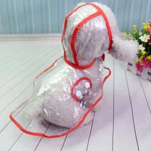 Waterproof Transparent Raincoats XS-XL Dog Raincoat Spring Summer Rain Coats Dog Light Clothes Pet Accessories Puppy Rain