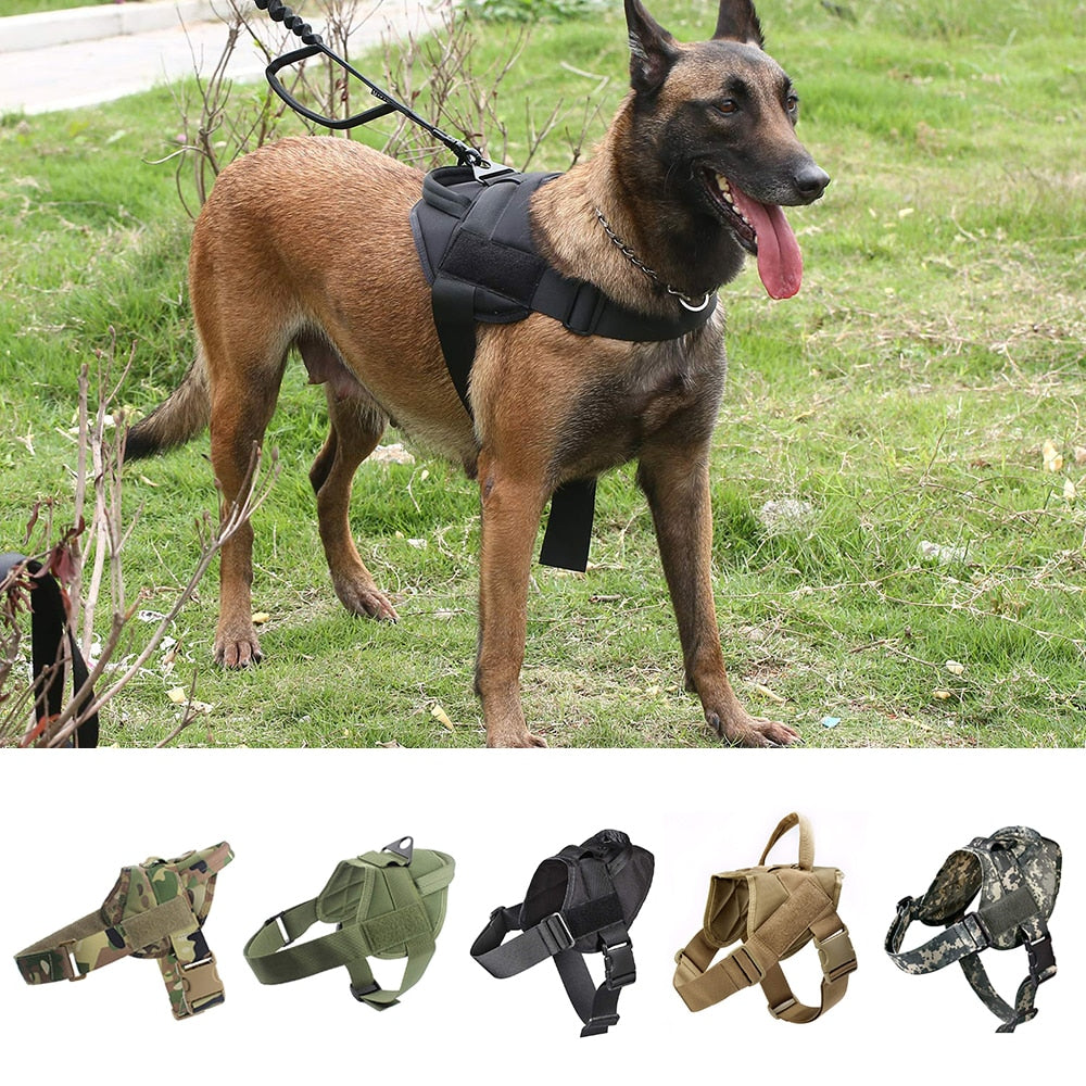 Dog Harness K9 Walking Adjustable Nylon Pet Dog Collar Vest Bungee Dog Leash Harness For Small Larges Dogs German Shepherd