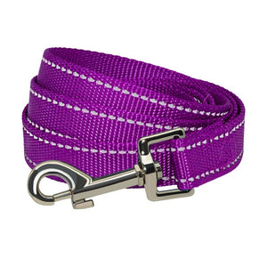 Nylon Reflective Dog Leash For Small Medium Large Dog Outdoor Running Walking Training Safe Pet Dog Rope Collar Harness Leash