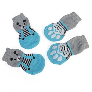 1 pair Creative Cat Coats Pet cat socks Dog Socks Traction Control for Indoor Wear L/M/S Cat Clothing Multicolor S M L 4