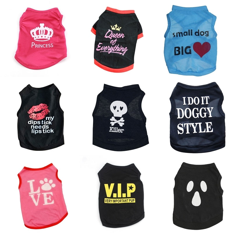 Pet Cat Clothes Summer Cat Vest Sports T Shirts Costume Thin Clothes for Small Dogs Chihuahua Cool Puppy Clothes for Kitty 40