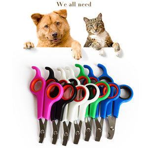 2020 New Pet Grooming Nail Clipper Claw Cutter Trimmer Nail Cutting Scissor for Animals Professional Cat Dog Nail Clipper Cutter