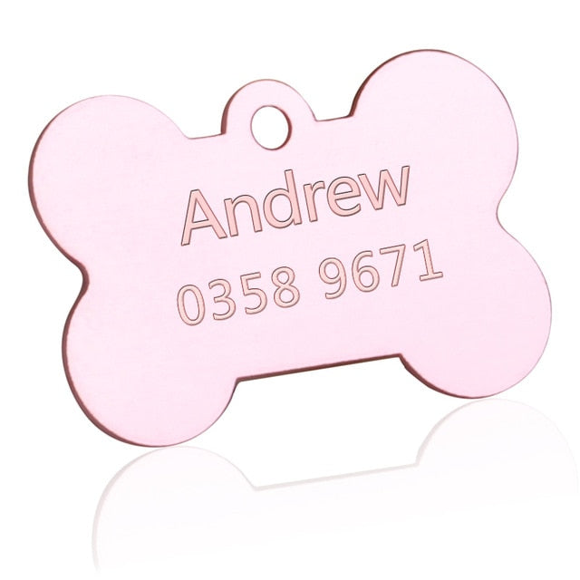 Customized Dogs Collars Harnesses Dog Sheet Personalized Dogs ID Tag Cats Collar Dog Name Phone Pet Product3