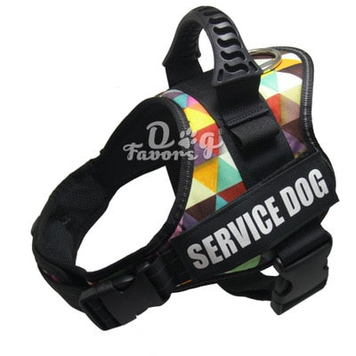 Pet Dog Harness Reflective Rope Nylon Handle Adjustable Anti-collision Vest Harness for Small Medium Large DogS Camouflage