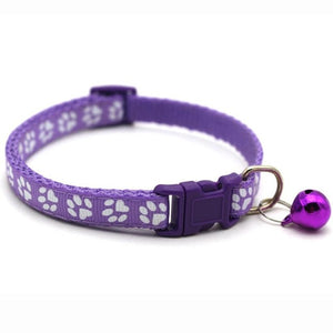Adjustable Pet Dog Cat Collar Small Pets Nylon Buckles With Bell Dogs Cats Supplies For Chihuahua Bulldog Leash Accessories