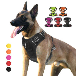 Pet Dog Harness Adjustable Nylon No Pull Vest Pet Collar Accessories For Small Medium Dog Double Reinforcement 5 Colors