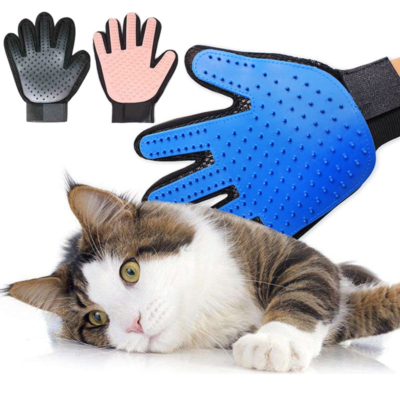 Glove For Cats Cat Grooming  Silicone Pet Dog brush Glove De shedding Gentle Efficient Pet Grooming Glove Dog Bath Cat cleaning