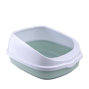 Pet Toilet Bedpan Anti Splash Cats Litter Box Cat Dog Tray with Scoop Kitten Dog Clean Toilette Home Plastic Sand Box Supplies