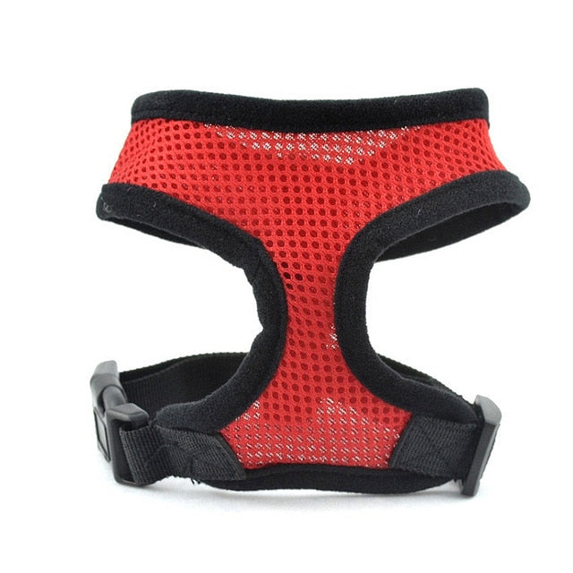 Dog Harness Vest Adjustable Soft Breathable Dog Harness Nylon Mesh Vest Harness for Dogs Puppy Collar Cat Pet Dog Chest Strap