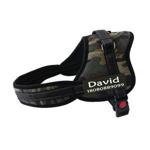 New Fashion Dog Name Harness Costumized Free Name Phone Number Medium Large Big Dog Pet Personalized Harness