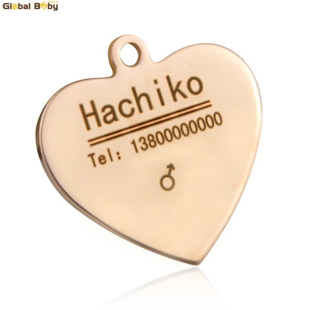 Pet Tags Personalized Name Dog Cat Tag Stainless Steel Free Engraved Puppy  Dog Collar Pendant