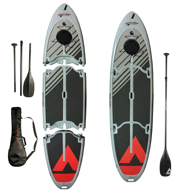 Easy Eddy Three-Piece Paddle Board with Carbon Fiber Paddle