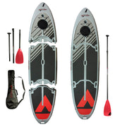 Easy Eddy Three-Piece Paddle Board with Fiberglass Shaft Paddle
