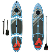 Easy Eddy Three-Piece Paddle Board with Aluminum Shaft Paddle