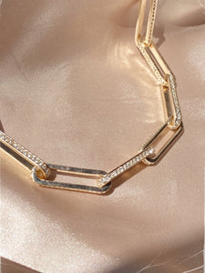 Born to Flex Gold Diamond Chain Necklace