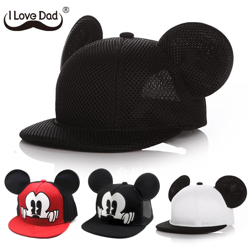 Mickey Ears Baby Boy Sun Hat Children Snapback Baseball Cap Summer