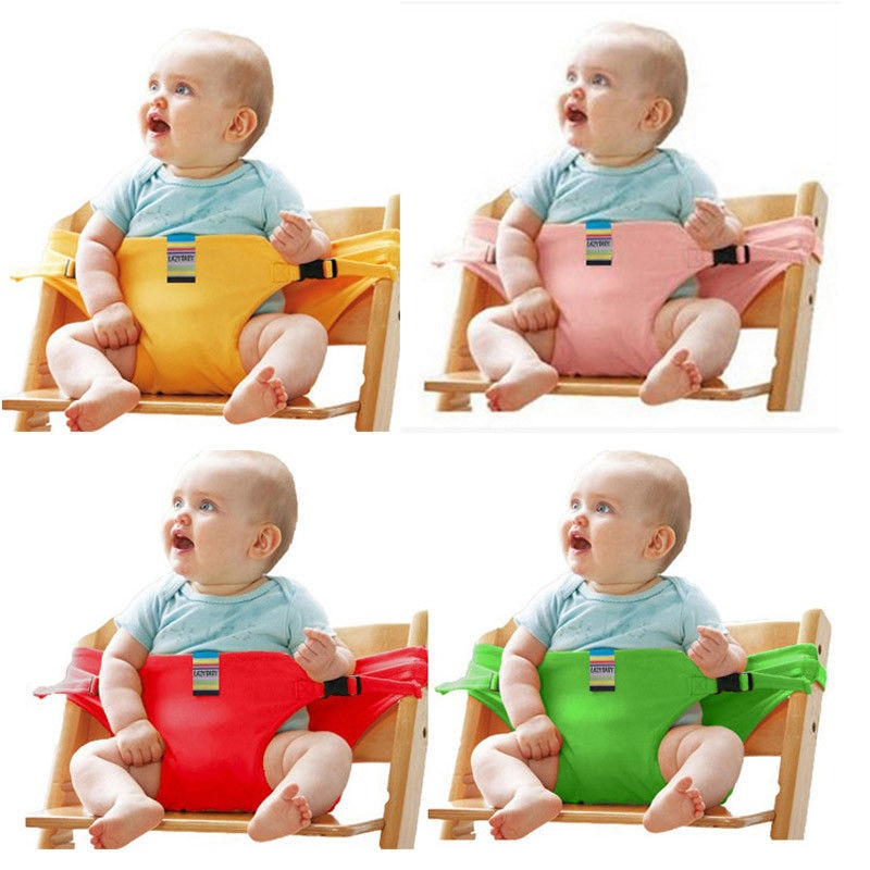 Portable Infant Kids Baby High Chair Booster Safety Seat Strap