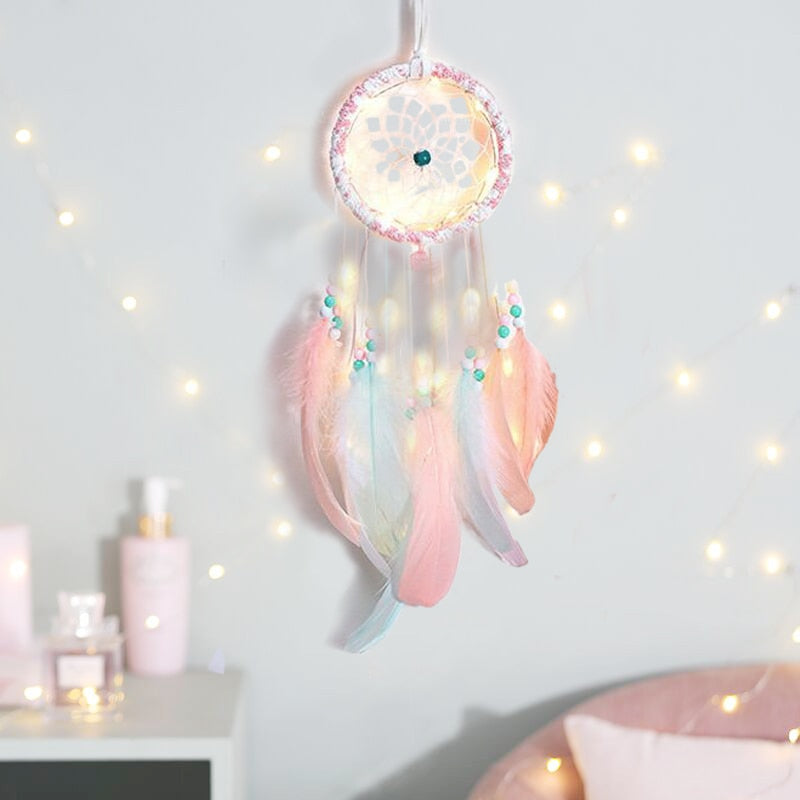 DIY Dream catcher Color Decor Baby Room Decoration Wall Hanging Bedding