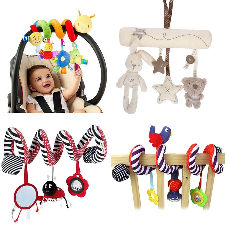 Infant Crib Bed Stroller Toy Spiral Baby Toy For Newborns Car Seat Educational