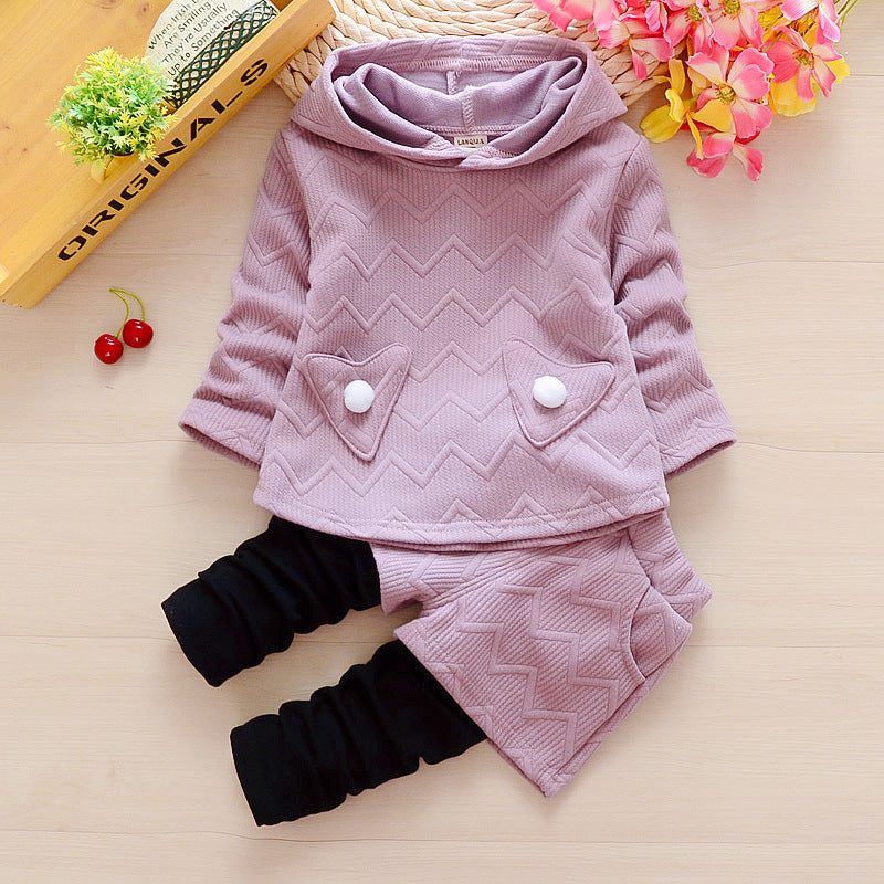 Baby girls clothing sets autumn girls casual clothes hoodies & pants