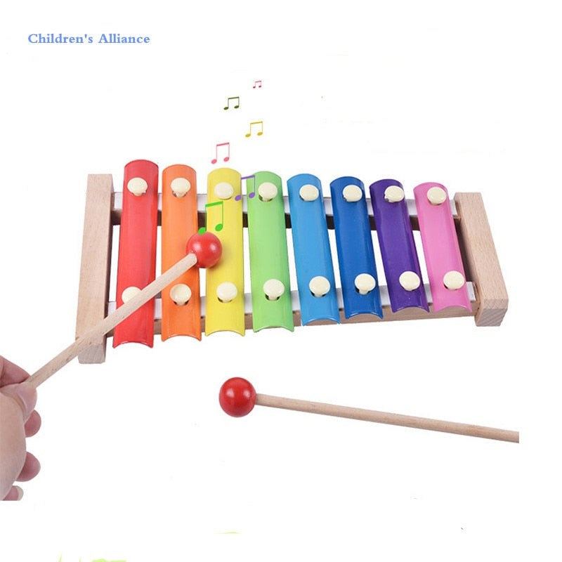 Baby Early Musical Instrument Hand Knock Piano Animal Multicolor