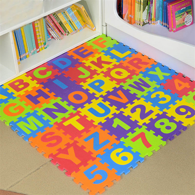 Clawling Mats Puzzle Toys For Kids Floor Play Mat Educational Number Letter