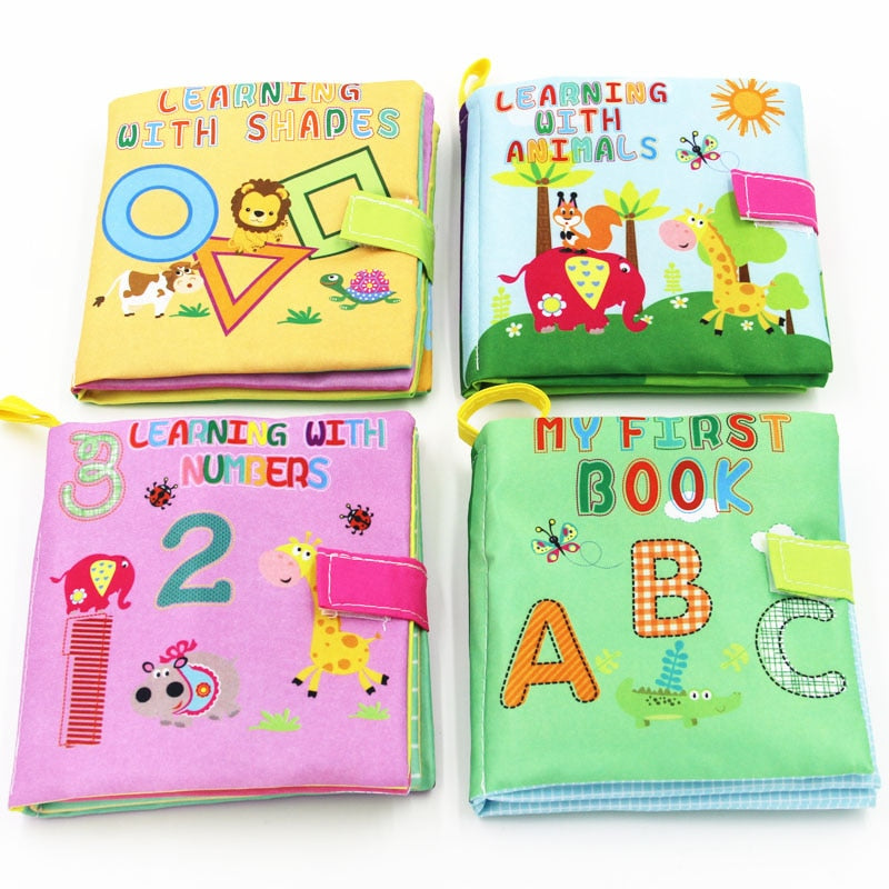 Cloth Books Rustle Sound Infant Educational Stroller Rattle Toy