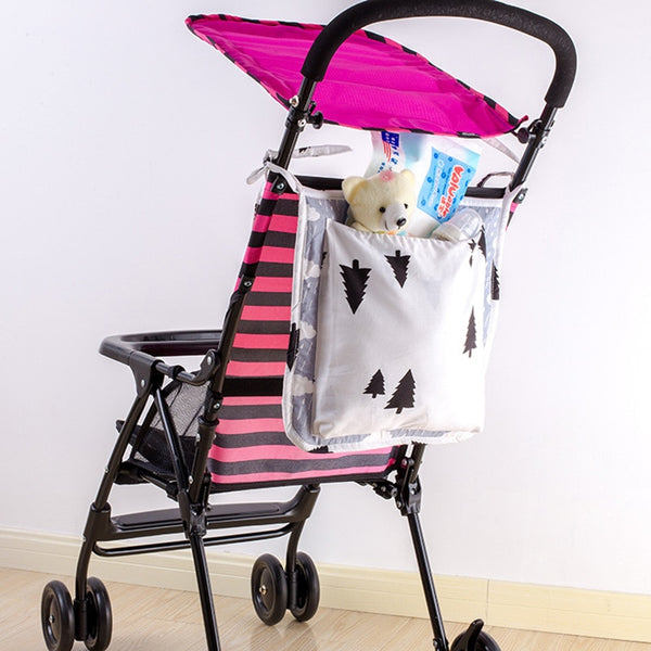 Stroller Hanging Bag For Infant Baby Bed Organizer Cotton Storage Bag on Baby Crib