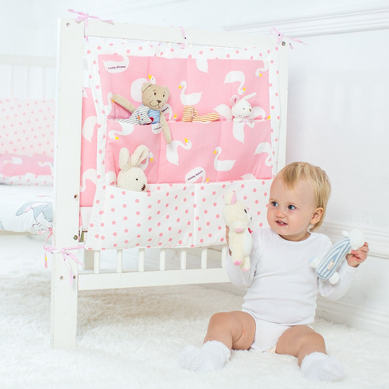 Promotion! muslin tree Brand Baby Cot Bed Hanging Storage Bag