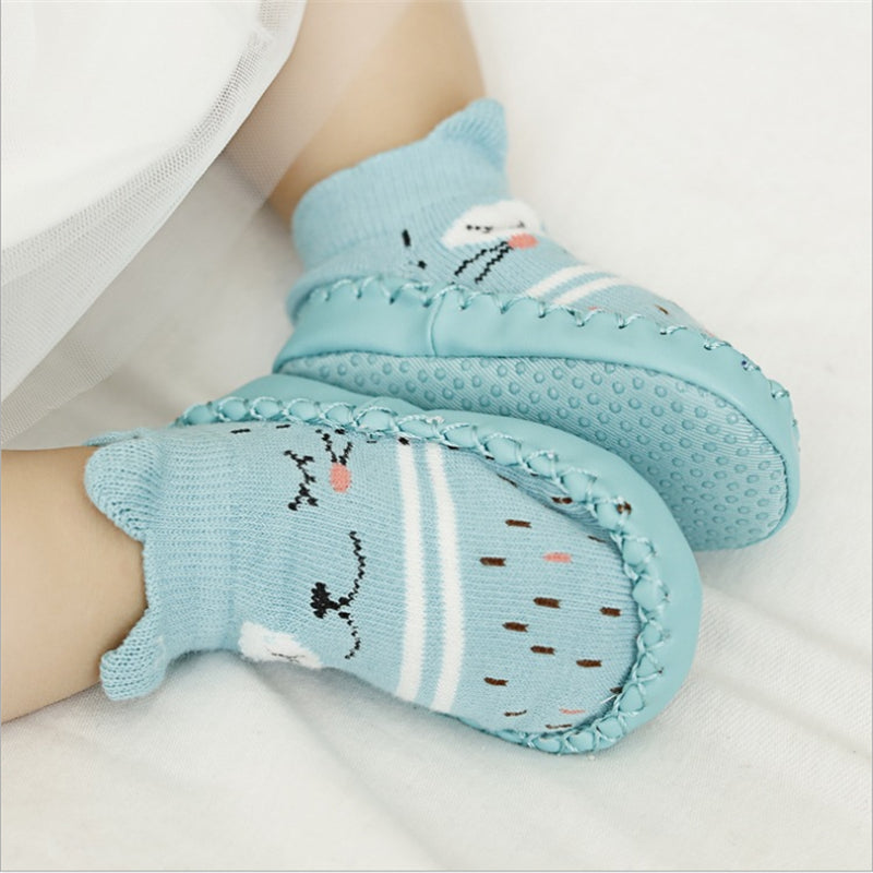 Fashion Baby Socks With Rubber Soles Infant Sock Newborn Autumn