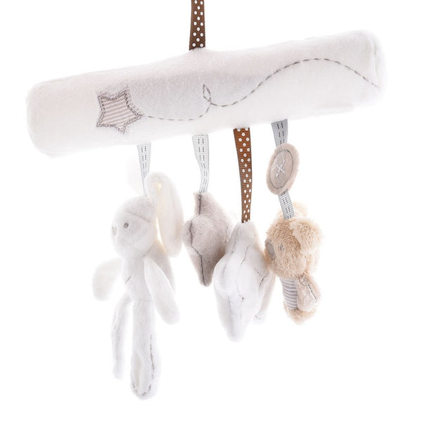 Baby Rabbit Toys Stroller Accessories Hanging Plush Educational Toy Doll