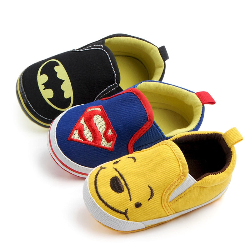 Cartoon Character style Toddlers Baby Canvas shoes Baby moccasins Soft bottom