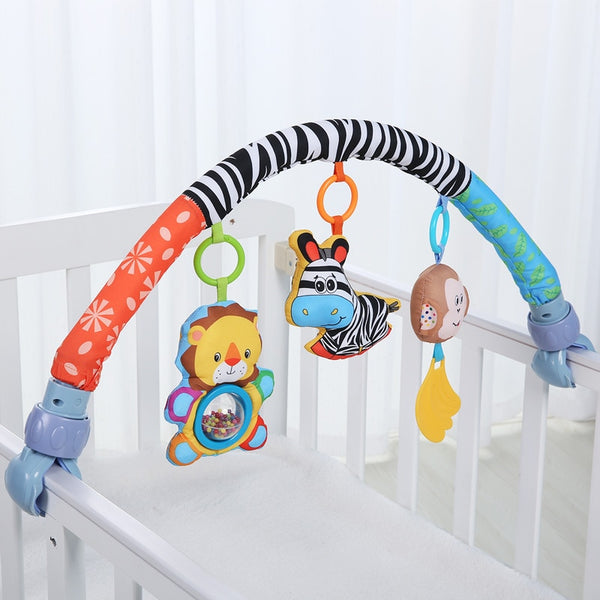 Baby Bed Around Bumper Bar Crib Cot Stroller Accessories For Infant Music Baby Bedding
