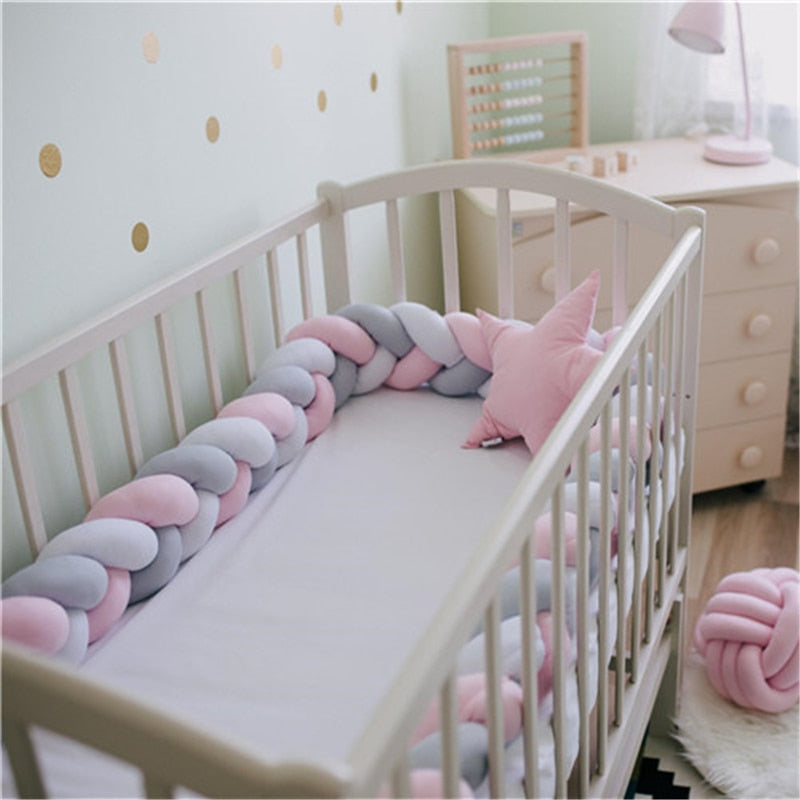 Baby Bed Bumper Knot Design Newborn Baby Crib