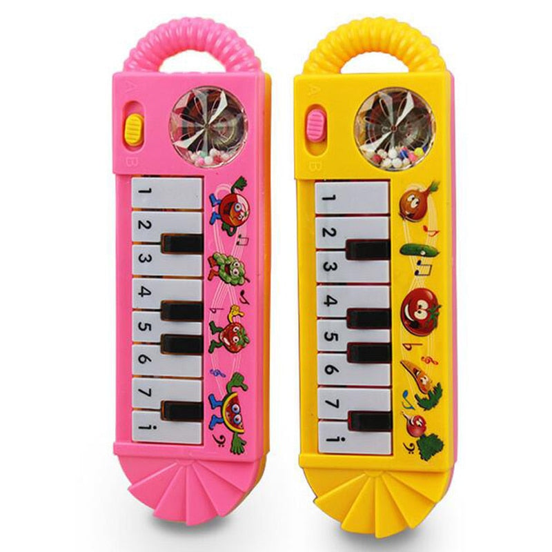 Baby Children Electric Piano Musical Instruments Rattles Hand Bell Infant