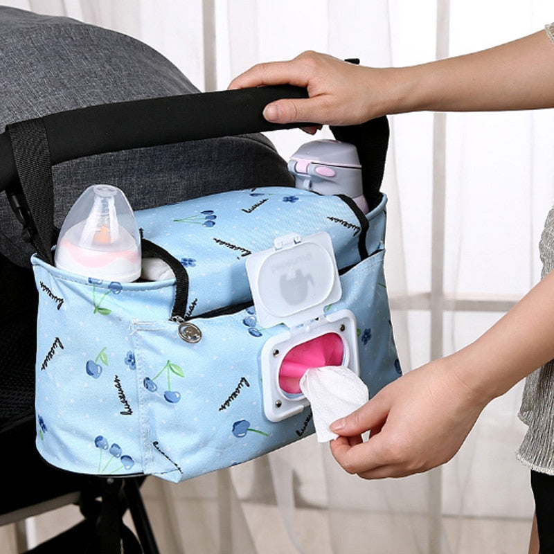 Hot Waterproof Large Capacity Baby Stroller Accessories Diaper Nappy Bag Cartoon